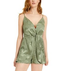 guess sleeveless jacquard romper