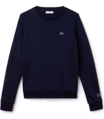 lacoste long sleeve fleece crewneck sport sweatshirt