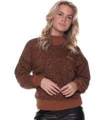 colourful rebel leopard loosefit highneck sweater