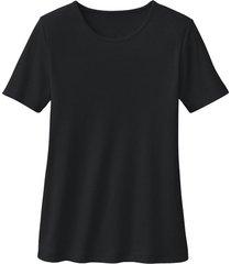 biokatoenen shirt met ronde hals, zwart 34