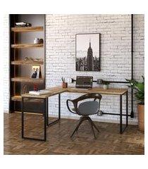 mesa de escritório kuadra ii carvalho 150 cm