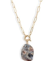 women's halogen agate pendant necklace