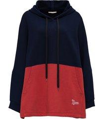 marni oversize hoodie in bicolor jersey