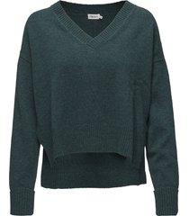 cropped v-neck sweater gebreide trui groen filippa k