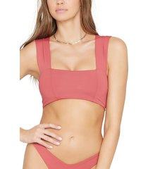 women's l space parker bikini top, size small - red