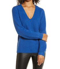 women's halogen balloon sleeve sweater, size xx-large - blue