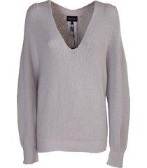 emporio armani ribbed sweater