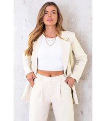 ultra oversized blazer light beige