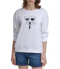 karl lagerfeld paris crystal karl emoji sweatshirt