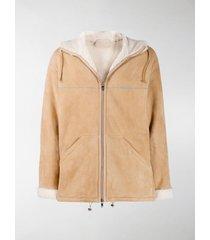 prada sheepskin hooded jacket