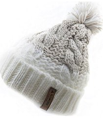 gorro de lana beanie gradient beige flaw