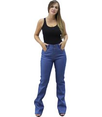 calça versatti cintura alta sabrina azul