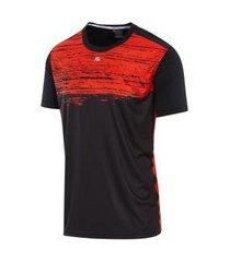 camiseta masculina estampada stand preto/cinza/laranja camiseta masculina estampada stand preto/cinza/laranja g