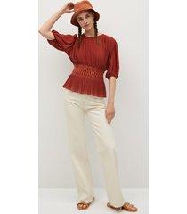 blouse met elastische ceintuur
