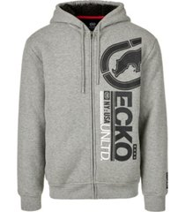 ecko unltd men's upside full zip thermal sherpa hoodie