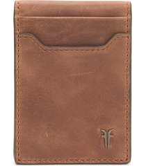 frye holden folded leather card case in whiskey at nordstrom
