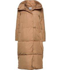 puffer jacket gevoerde lange jas beige coster copenhagen