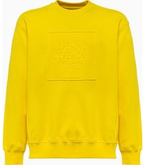 opening ceremony box logo sweatshirt ymba003f20fle004