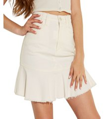 guess bloom peplum mini skirt