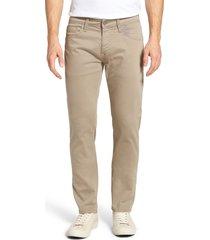 men's big & tall mavi jeans zach straight leg twill pants, size 42 x 36 - beige