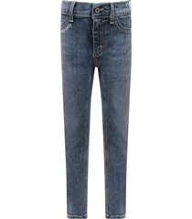 dondup light blue girl appetite jeans with white writing