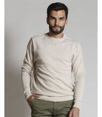 sweater camel redskin escote redondo