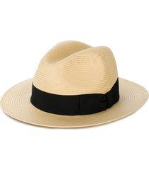 dolce & gabbana panama style hat - neutrals