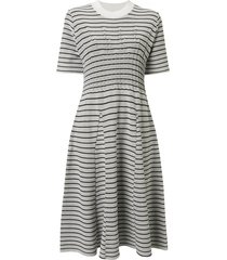 akira naka striped flared dress - grey