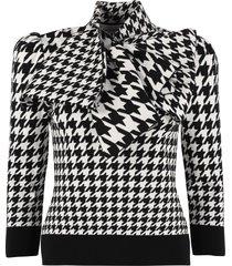 alexander mcqueen houndstooth jacquard pullover