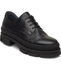 shoes - flat - with lace snörade skor låga svart angulus