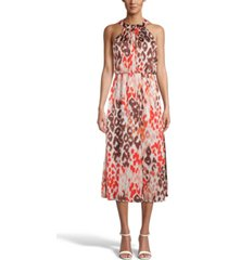 bar iii printed chiffon halter dress, created for macy's