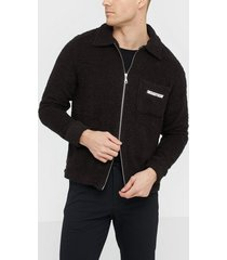 the classy issue terry jacket tröjor black