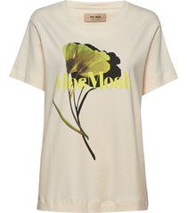 tulipa blouse t-shirts & tops short-sleeved crème mos mosh