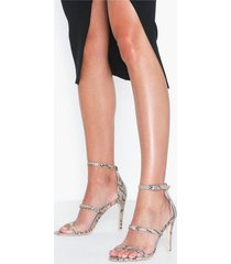 nly shoes triple strap heel high heel