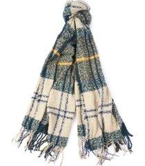 barbour tartan boucle scarf