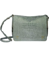 igor croco lichen nubuck shoulder bag