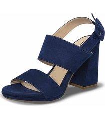 sandalias tacón alto fireleth azul para mujer croydon