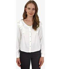 blusa juana abotonada blanca jacinta tienda