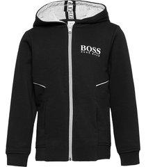 cardigan suit hoodie trui zwart boss