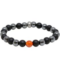 mr ettika short notice carnelian and hematite bracelet