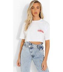 kort hartjes amour t-shirt, white