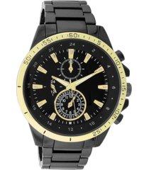 inc men's chronograph gunmetal-tone bracelet watch 48mm, created for macy's