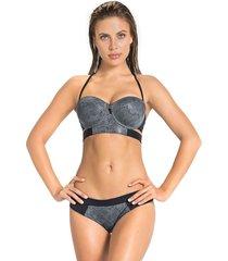 swimwear bikini gris leonisa 201447