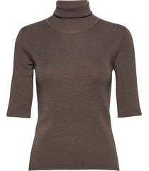 merino elbow sleeve top t-shirts & tops knitted t-shirts/tops bruin filippa k