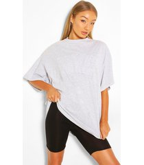 nyc applique oversized t-shirt, grey marl