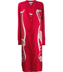 monse pluto bandana cardigan - red