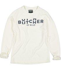 butcher of blue sweatshirt 2013012 classic broken ecru