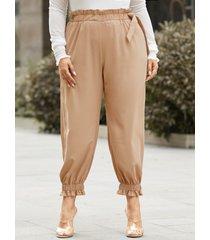 yoins plus talla correa elástica para atar diseño pantalones