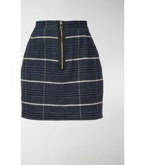 natasha zinko checked zip mini skirt