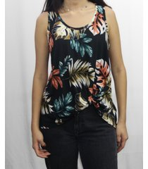 coin 1804 womens botanical print twist tank